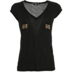 T-Shirt - Noir - Elisabetta Franchi - Modalova