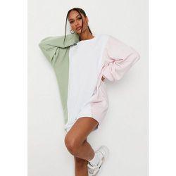 Robe Sweat Oversize Tricolore - Missguided - Modalova