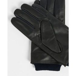 Leather Gloves With Ribbed Cuff - Ted Baker - Modalova