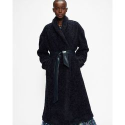 Flood Length Faux Fur Wrap Coat - Ted Baker - Modalova