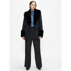 Belted Coat With Faux Fur Collar And Cuffs - Ted Baker - Modalova