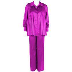 Pyjama matelassé en soie Soie Unie - MARJOLAINE - Modalova