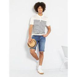 Polo rayé maille tricot - Kiabi - Modalova