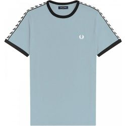 Authentic Taped Ringer Tee Chalk , , Taille: M - Fred Perry - Modalova