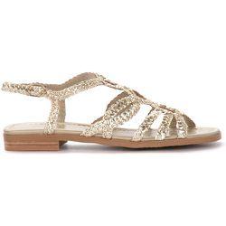 Sandalo basso in pelle intrecciata color platino , , Taille: 36 - Pons Quintana - Modalova