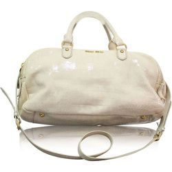 Croc Embossed Patent Leather Bowling Bag , , Taille: Onesize - Miu Miu Pre-owned - Modalova