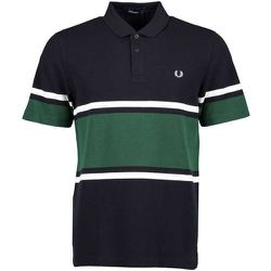 Gras FiNE Polo à rayures , , Taille: S - Fred Perry - Modalova