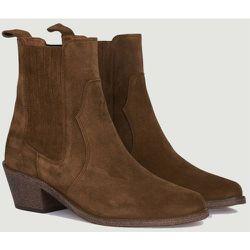 Sofia suede leather boots - Anthology Paris - Modalova
