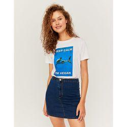 Mini Jupe en Jean Skinny Taille Haute - Tw - Modalova
