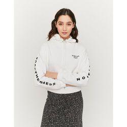 Sweat Blanc Imprimé Slogan - Tw - Modalova
