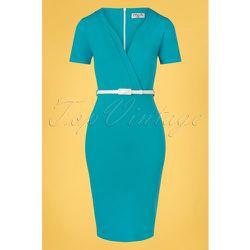 Demery Pencil Dress Années 50 en Mosaïque - vintage chic for topvintage - Modalova
