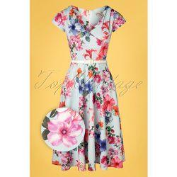 Kato Floral Swing Dress Années 50 en Clair - vintage chic for topvintage - Modalova