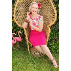 Maribelle Floral Pencil Dress Années 50 en Vif - vintage chic for topvintage - Modalova