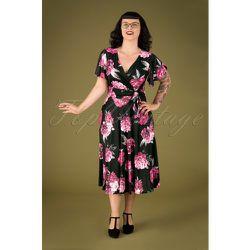Irene Roses Cross Over Swing Dress Années 40 en - vintage chic for topvintage - Modalova