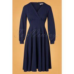 Robe Corolle Helaine Années 50 en Marine - vintage chic for topvintage - Modalova
