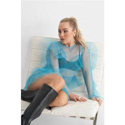 Tulle Flounce Mini Dress - Blue - Angelica Blick x NA-KD - Modalova