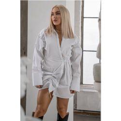 Robe Chemise - White - Angelica Blick x NA-KD - Modalova