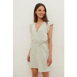 Fluide Robe Mini Portefeuille - Green - Anika Teller x NA-KD - Modalova