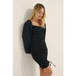 Robe Avec Cordon De Serrage - Black - Buonalima x NA-KD - Modalova