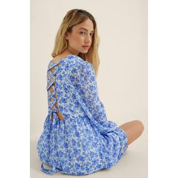 Robe À Lacer - Blue - Buonalima x NA-KD - Modalova