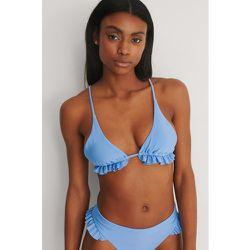 Recyclé Haut De Bikini À Volants - Blue - Marije Zuurveld x NA-KD - Modalova