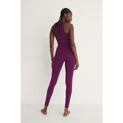 Recyclé Legging Taille Haute - Purple - NA-KD Flow - Modalova