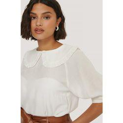 Big Collar Blouse - White - NA-KD Boho - Modalova