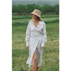 Robe Chemise À Poches - White - Claire Rose x NA-KD - Modalova