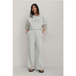 Biologiques Pantalon De Survêtement Ample Taille Élastique - Grey - NA-KD Trend - Modalova