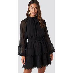 Embroidery Mini Dress - Black - NA-KD Boho - Modalova