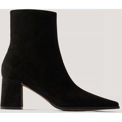 Bottes À Bouts Fins En Faux Daim - Black - NA-KD Shoes - Modalova