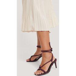 Sandales À Talons Et Brides Nouées - Burgundy - NA-KD Shoes - Modalova