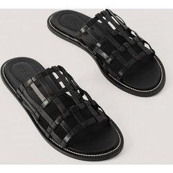 Leather Cage Slippers - Black - NA-KD Shoes - Modalova