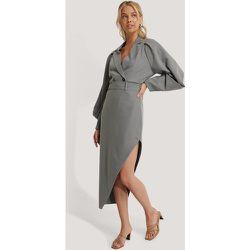 Maxi Tailored Asymmetric Skirt - Grey - NA-KD Classic - Modalova