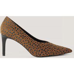 Escarpins Pointus En V - Brown - NA-KD Shoes - Modalova