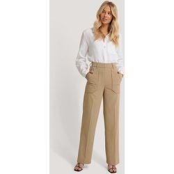 Quilted Pocket Suit Pants - Beige - NA-KD Trend - Modalova