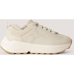 Rounded Chunky Trainers - Beige - NA-KD Shoes - Modalova
