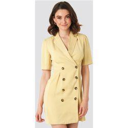 Short Sleeve Blazer Dress - Yellow - NA-KD Classic - Modalova