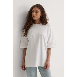Biologique Tee-shirt Surdimensionné - White - Marije Zuurveld x NA-KD - Modalova