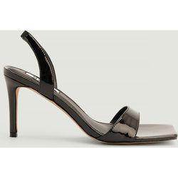 Chaussures À Talon À Bout Rond Avec Bride À L'Arrière - Black - NA-KD Shoes - Modalova