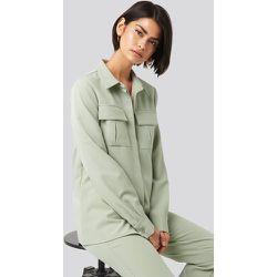Straight Fitted Overshirt - Green - NA-KD Classic - Modalova