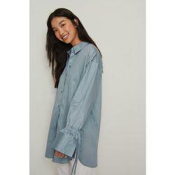 Recyclée chemise manches à noeuds - Blue - NA-KD Reborn - Modalova