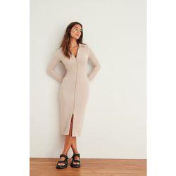 Maxi robe zippée - Beige - NA-KD Trend - Modalova