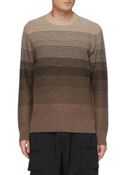 Burton' Gradient Coloured Cashmere And Wool Blend Knit Sweater - THEORY - Modalova