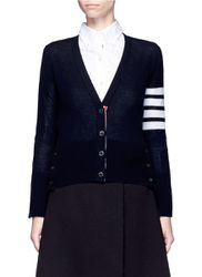 Stripe sleeve cashmere V-neck cardigan - THOM BROWNE - Modalova
