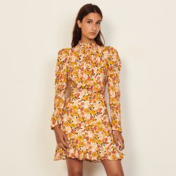 Short printed dress - Sandro - Modalova