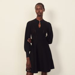 Pointelle knit midi dress - Sandro - Modalova
