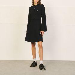 Military style knit dress - Sandro - Modalova