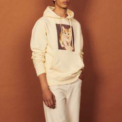 Cotton hoodie with artwork - Sandro - Modalova