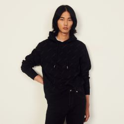 Cotton hoodie with Sandro print - Sandro - Modalova